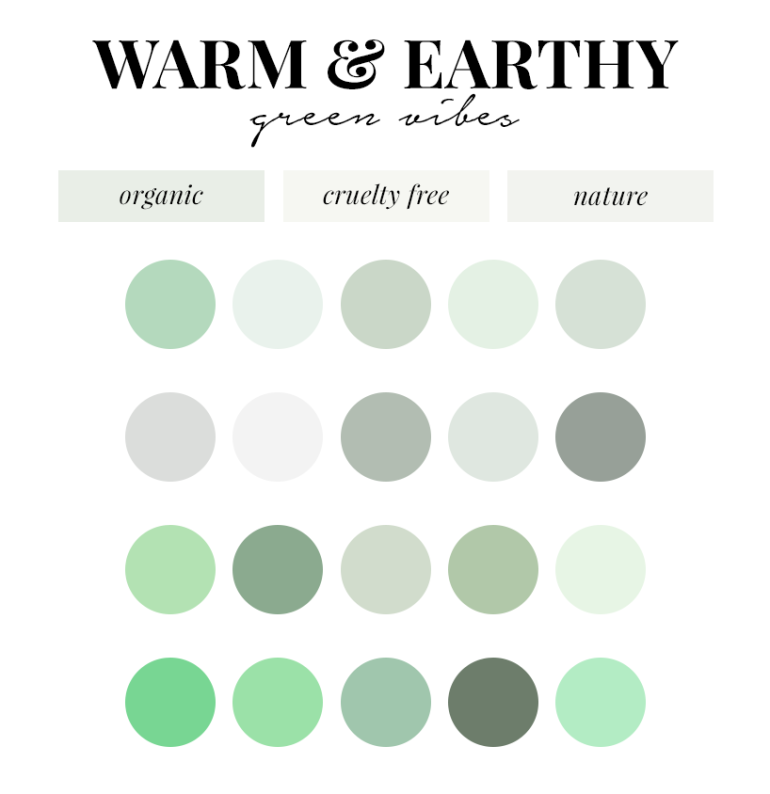creating a colour palette for your branding - new lune - free colour palettes - green