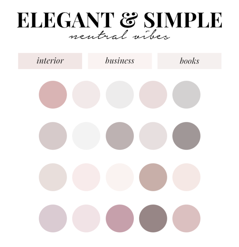 creating a colour palette for your branding - new lune - free colour palettes - neutral colours