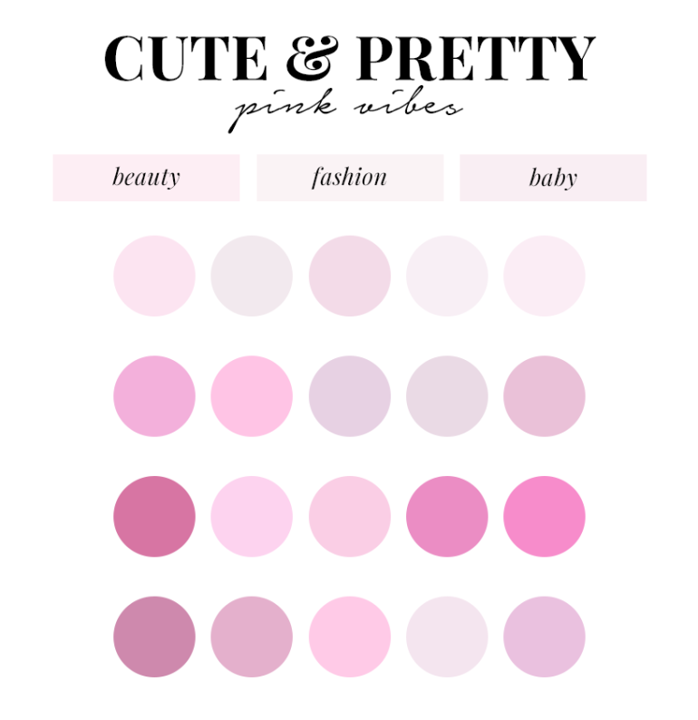 creating a colour palette for your branding - new lune - free colour palettes - pink