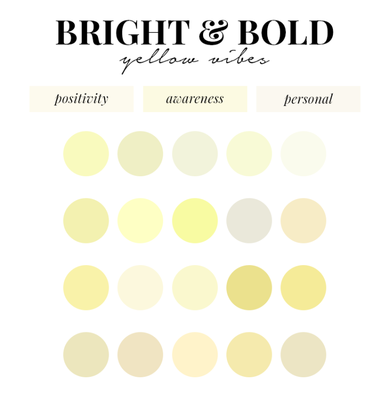 creating a colour palette for your branding - new lune - free colour palettes - yellow