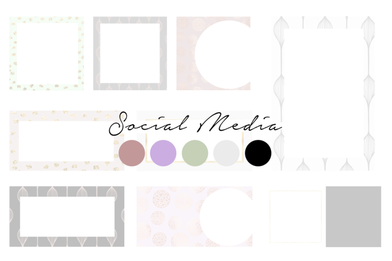 creating a colour palette for your branding - new lune - social media templates