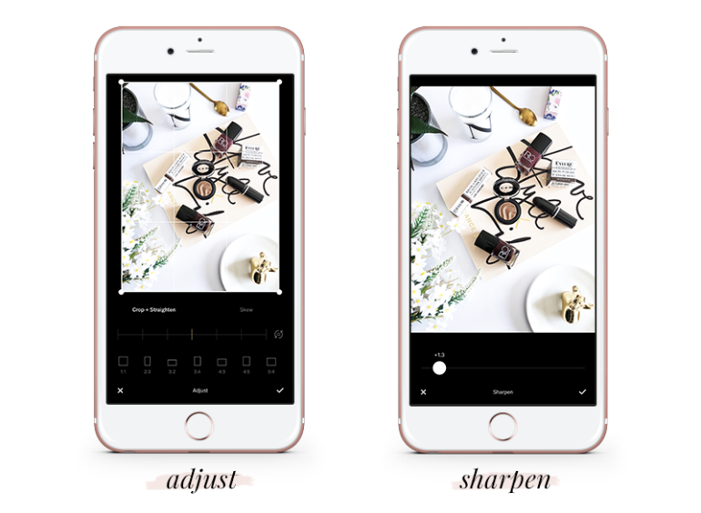 how to create a gorgeous feed using vsco cam - tutorial - free vsco settings - adjust - sharpen
