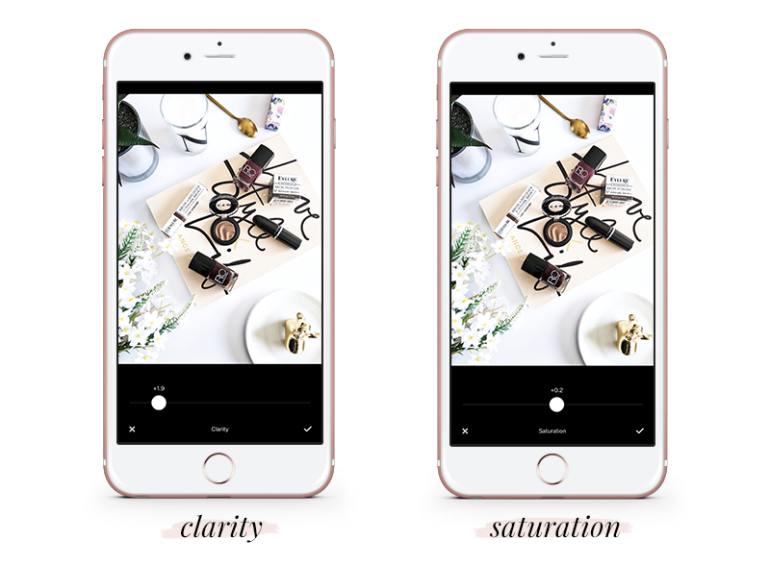 how to create a gorgeous feed using vsco cam - tutorial - free vsco settings - clarity - saturation