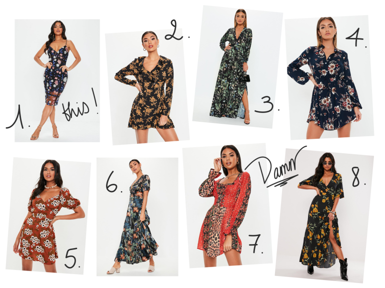 favourite floral dresses - missguided - new lune