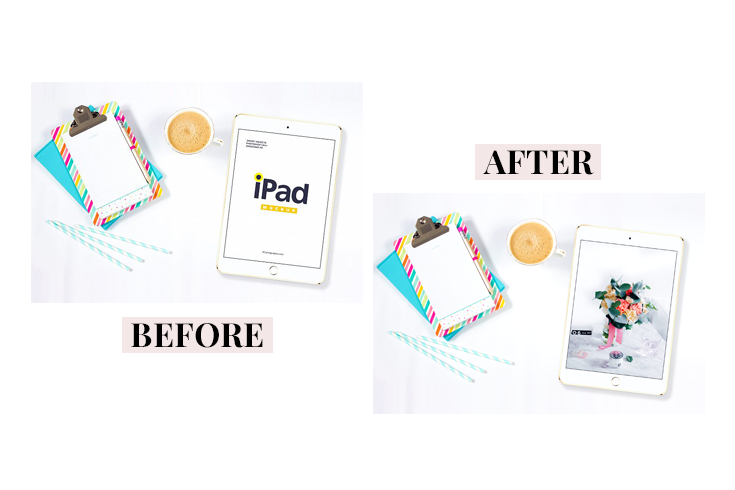 how to use mockups on your website - blog - business - mock up - new lune - device mock ups - ipad