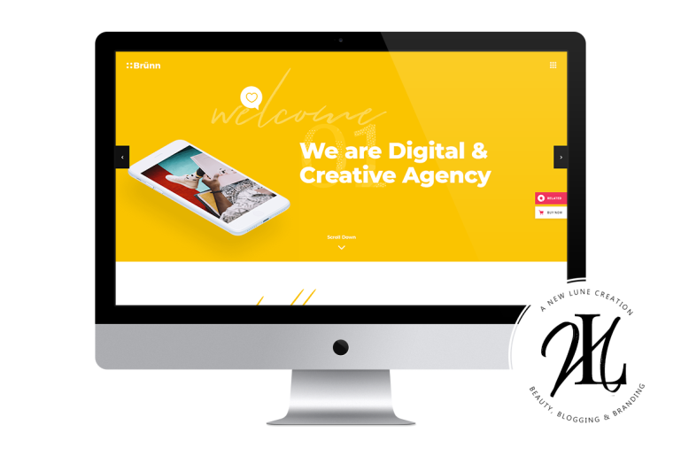 brunn - best business wordpress themes - digital agency - new lune
