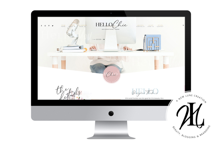 hello chic - helloyoudesigns - best business wordpress themes - new lune