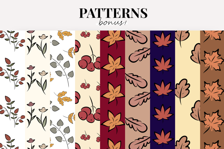 the ultimate fall icons and clipart set - instagram story highlights covers - new lune - patterns