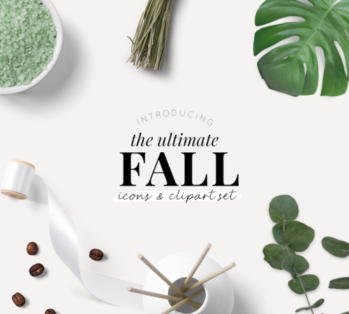 the ultimate fall icons and clipart set - new lune - studio
