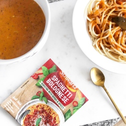 3 healthy lunch ideas for school uni - new lune - schwartz spaghetti bolognese - pasta