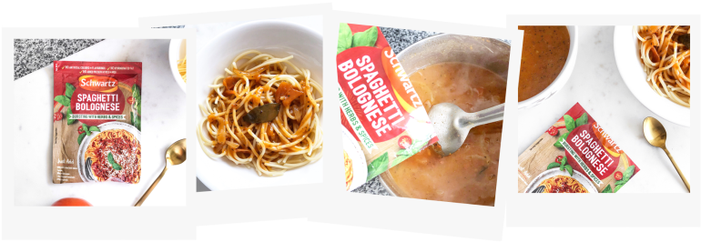 3 healthy lunch ideas for school uni - new lune - schwartz spaghetti bolognese