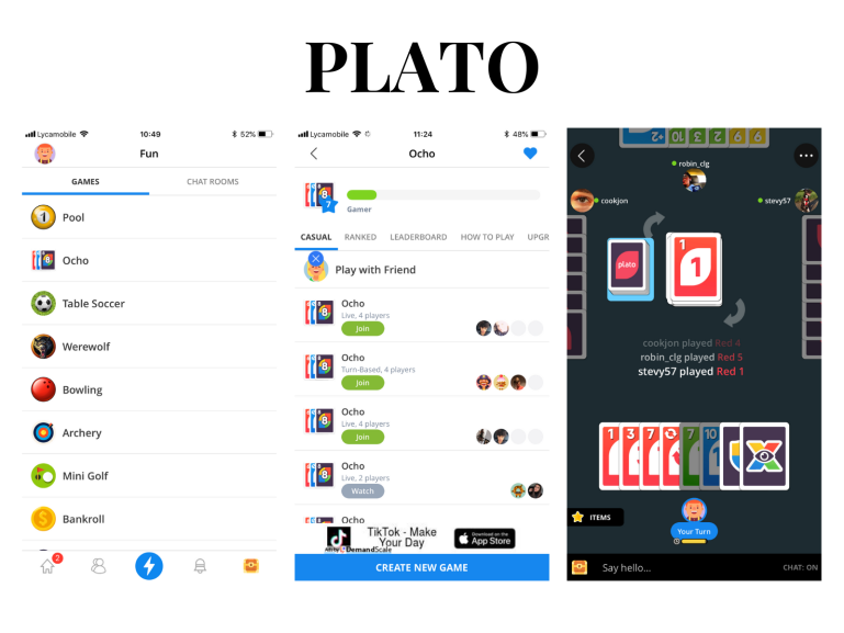 7 apps to download when you are bored - new lune - plato