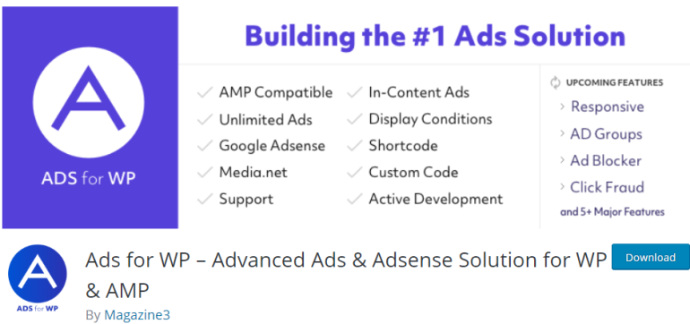 ads for wp - new lune - the ultimate guide to wordpress plugins