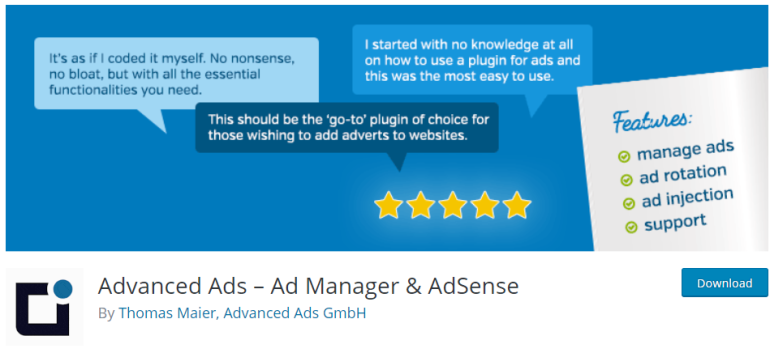advanced ads - new lune - the ultimate guide to wordpress plugins