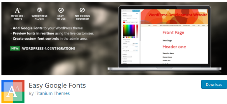 easy google fonts - new lune - the ultimate guide to wordpress plugins