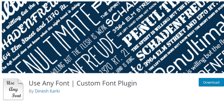 use any font - new lune - the ultimate guide to wordpress plugins