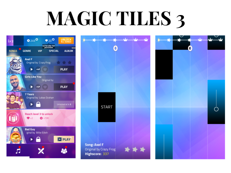 10 games you have to download on your phone - new lune - magic tiles 3