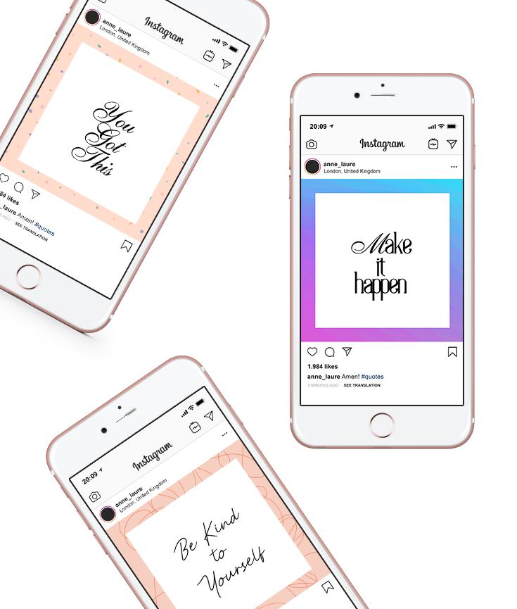 free instagram templates - new lune