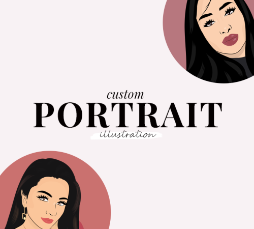 custom portrait illustration - new lune