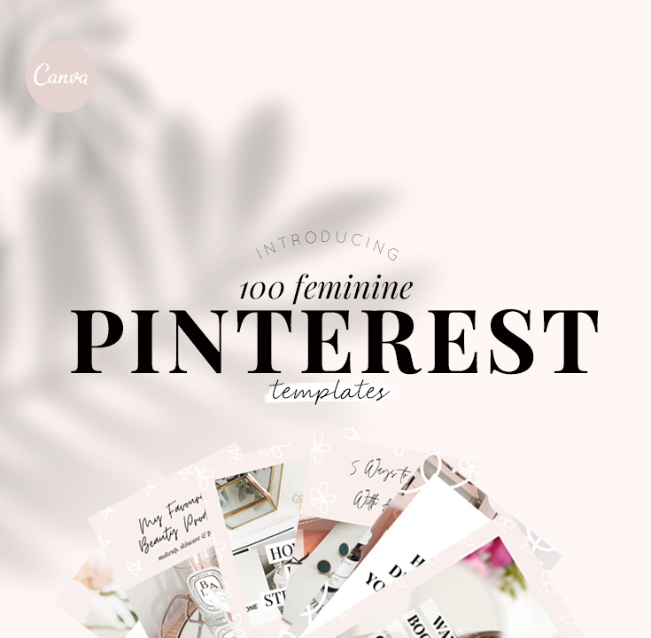 100 feminine pinterest templates - new lune