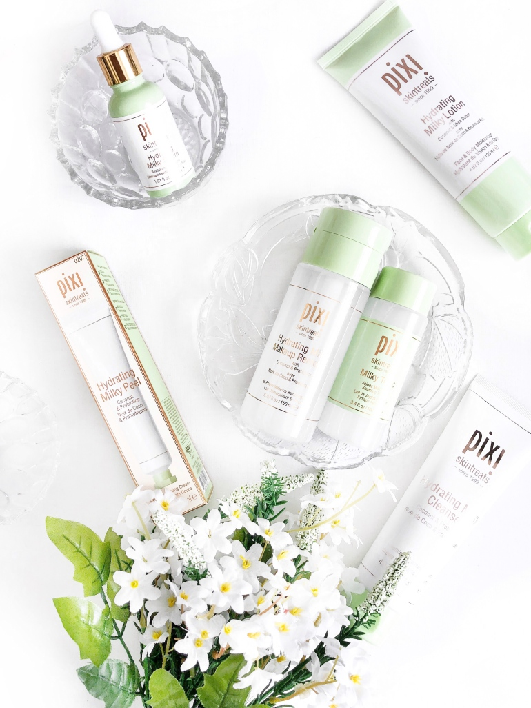 a hydrating skincare routine - pixi - hydrating milky range
