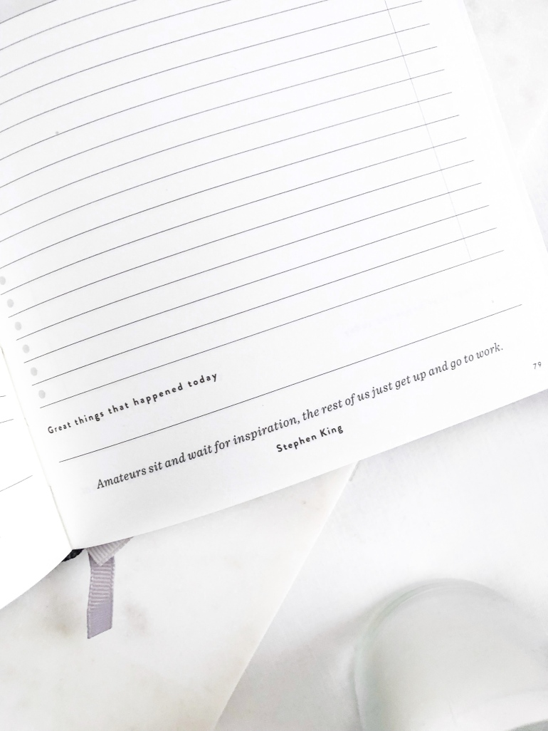 daily goal setter planner - mal paper - how I plan and create content on my blog - new lune - quotes - inspiration - motivation