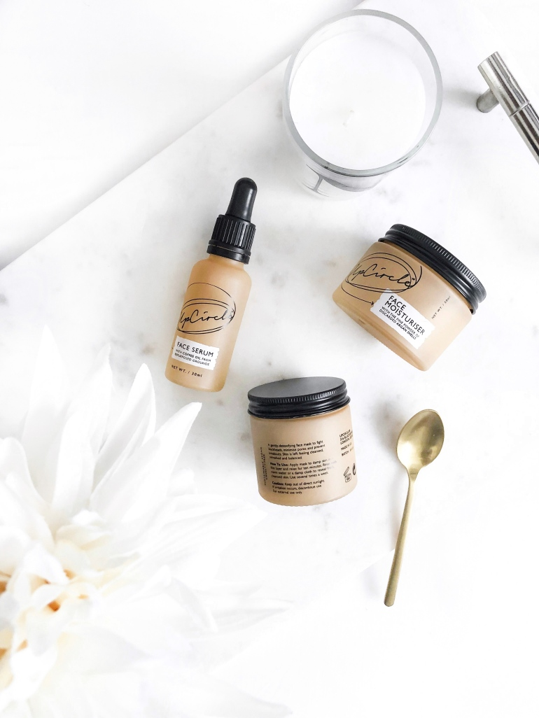 three from upcircle beauty - new lune - review - first impression - moisturiser - serum - face mask