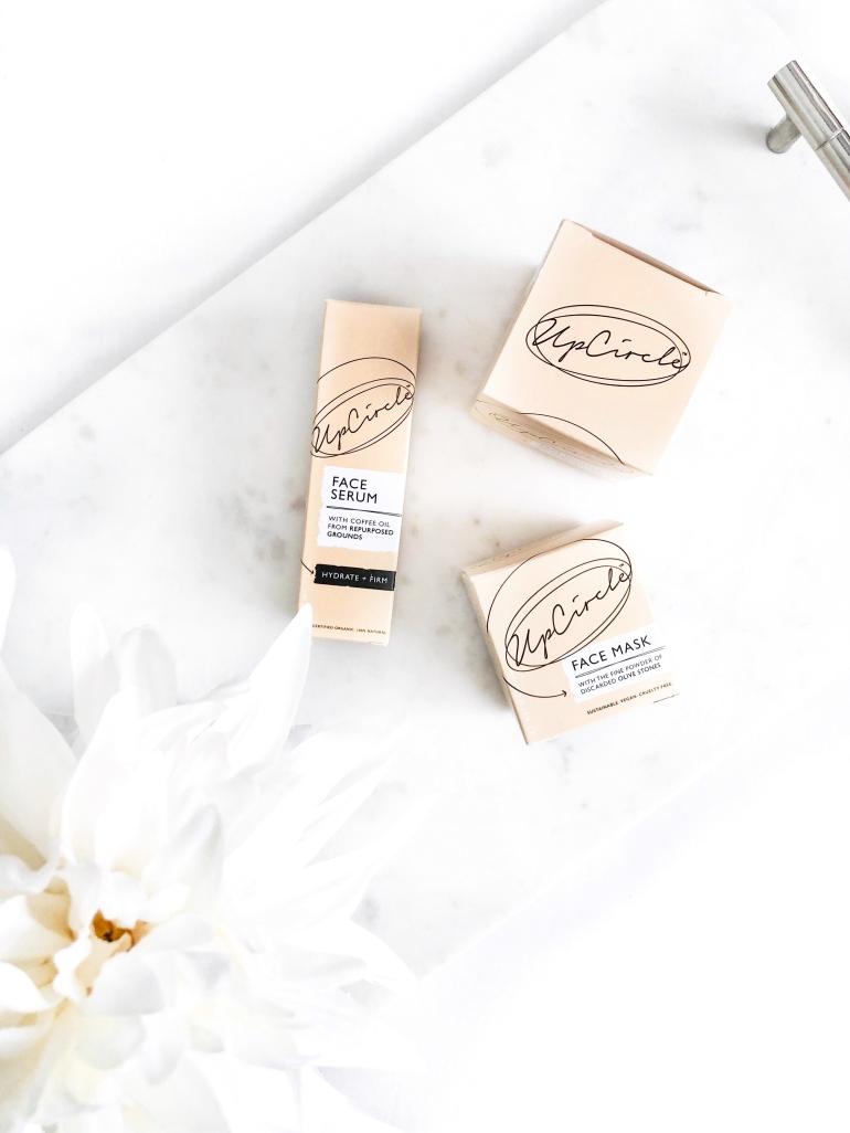 three from upcircle beauty - new lune - serum - moisturiser - face mask