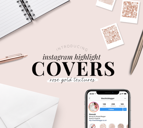 Instagram highlight covers - rose gold textures - pretty highlight covers