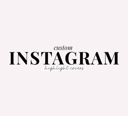 custom instagram highlight covers - new lune