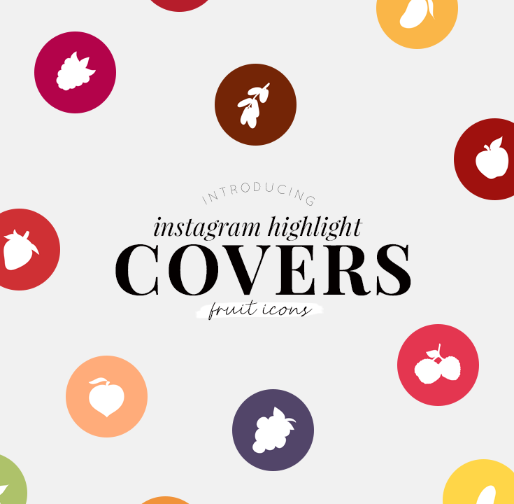 Instagram highlight covers - fruit icons - new lune studio