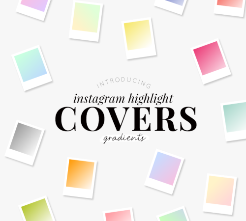 Instagram highlight covers - pretty gradients - new lune studio