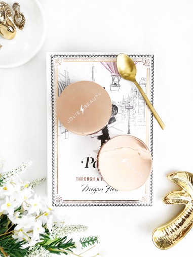 the best highlighters for christmas by jolie beauty - packaging - new lune - second skin collection