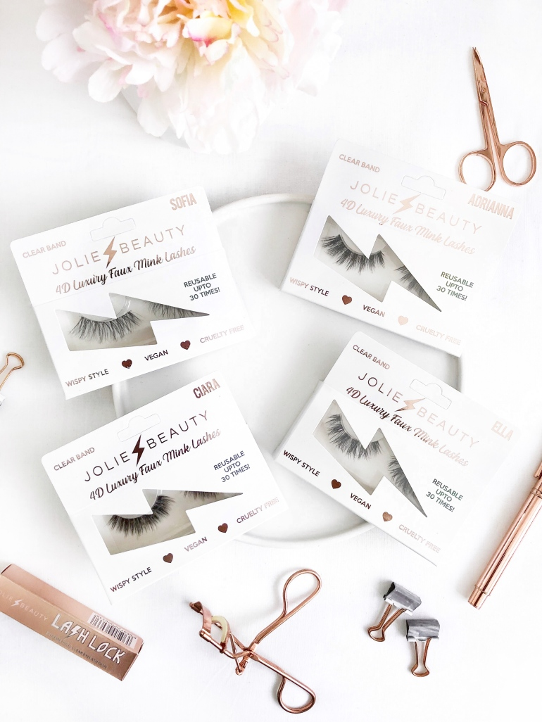 4d luxury faux mink lashes - jolie beauty - new lune