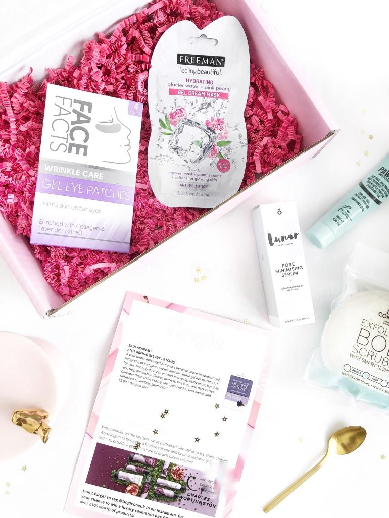 a self care subscription box - tingle - april box - new lune