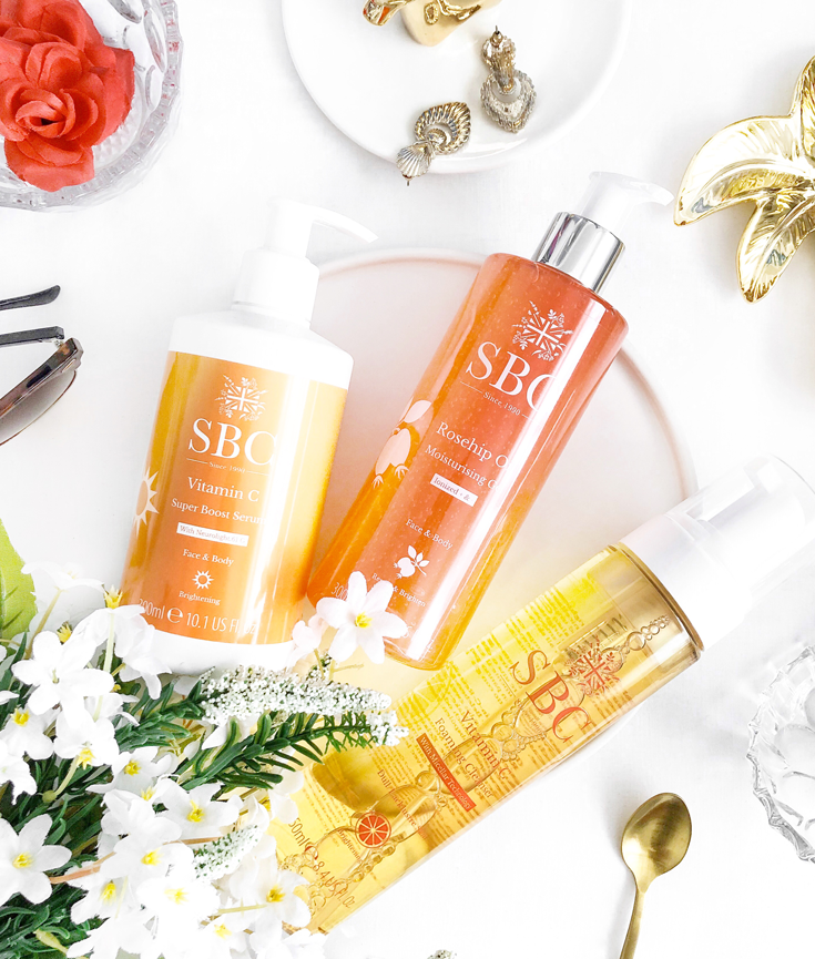 testing the get up and glow trio by sbc skincare - new lune